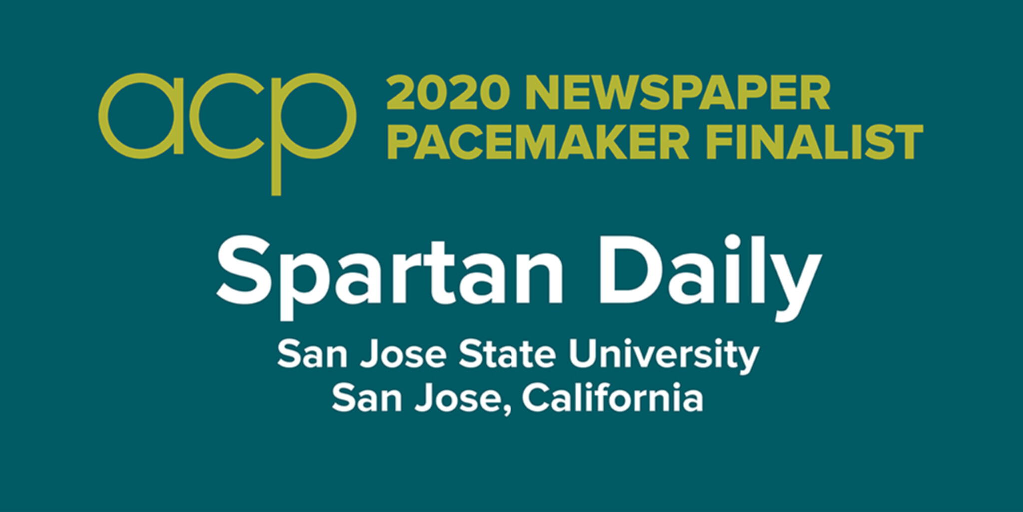Spartan Daily is a Pacemaker finalist